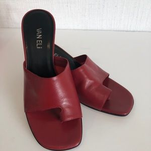 Brand new - size 8 Vaneli Red leather sandals